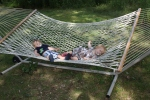 The twins kick off vacation in the hammock because they really needed the R&R