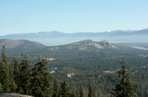 A view of Eldorado National Forest from Route 50