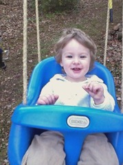 Theodore loves to spend time on the swing at Grammy's