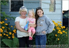 Always happy to see us, my Aunt Janette, and my two daughters, Jacqueline and Erin. 7-25-2012.
