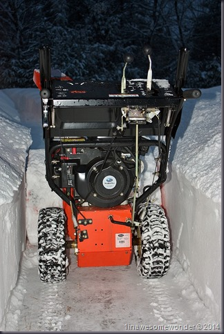 My Ariens poses next to some of the 36+ inches of snow we have received in the last 15 days.