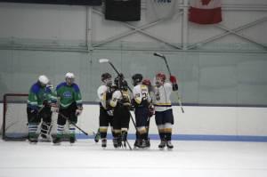 Avs score a goal against Advantage Ice. (Photo by Terri P)