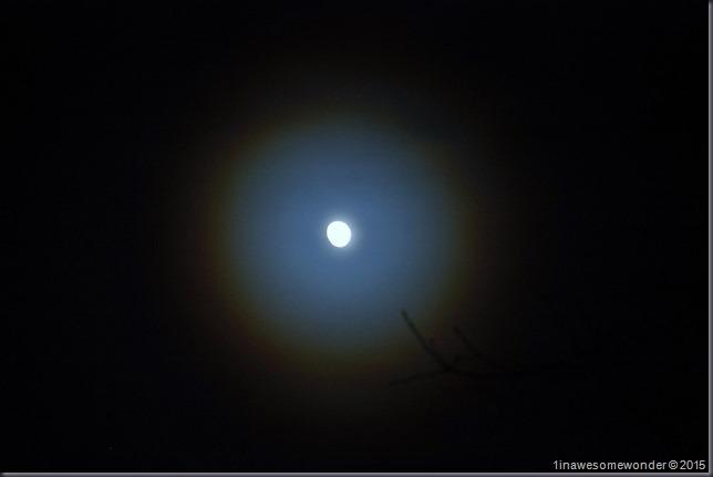 Snow Ring around moon