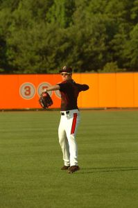 Riley Palmer loosens up his arm with the IronBirds. (photo courtesy of Riley Palmer and the IronBirds)