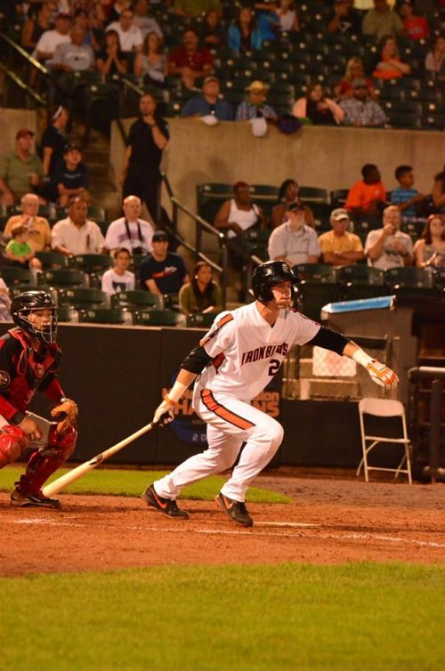 Riley Palmer launches a rocket for the IronBirds. (photo courtesy of Riley Palmer and the IronBirds)