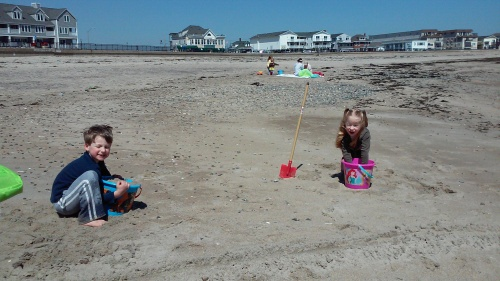 The twins told me how much they loved this beach and wanted to be assured that they could return