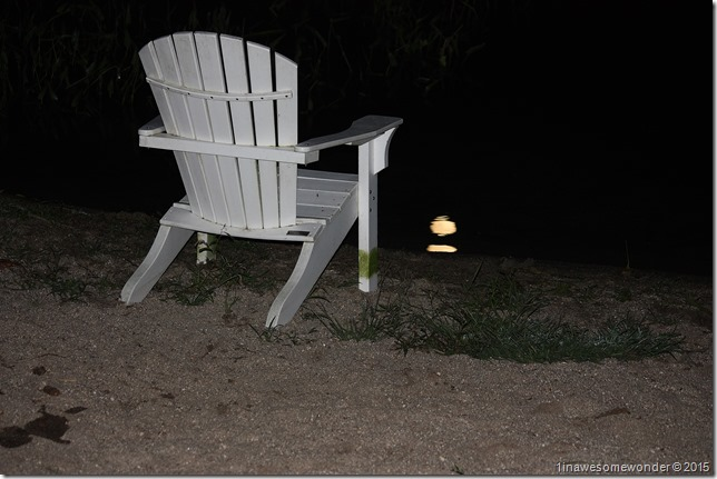Chair by moon reflection