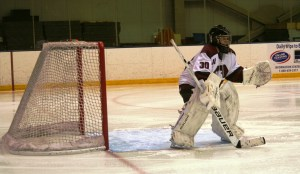 Ethan Smith in net. (c) 1inawesomewonder. (Photo by Charron)