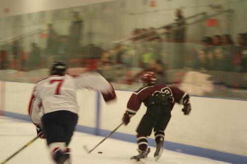 Brett Lassonde sprints up ice. (Photo by Charron) (C) 1inawesomewonder