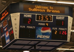 The scoreboard says it all. Grizzlies Win! (c) 1inawesomewonder (Photo by Charron)