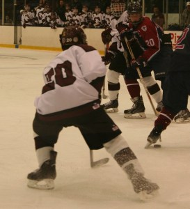 Stephen Provencher sets up to fire a shot on goal. (c) 1inawesomewonder. (Photo by Charron)