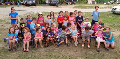 Yes, we had a lot of twins in camp. This was an attempt to get all the twins into a group photo. (C) 1inawesomewonder.
