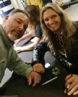 I may be the worst dual selfie taker in the Northeast, but at least Joel is good at it. Just a couple of lefty's hanging out. Thanks Joel, so good to have you back with TSO this tour.